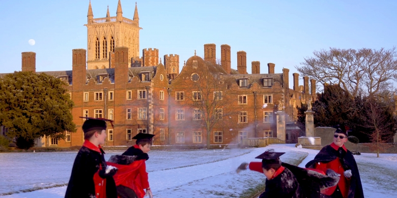 Choristers in the snow