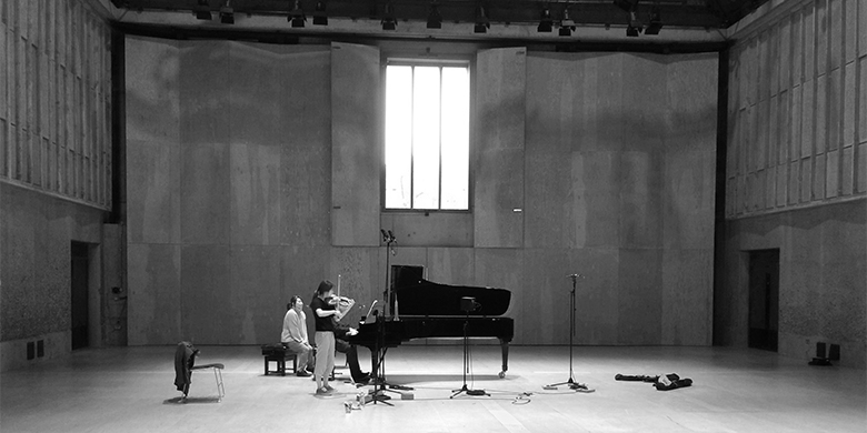 Julia Hwang records at Snape Maltings