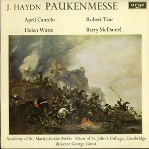 'Paukenmesse' (J. Haydn), 'Salve Regina' (Michael Haydn)