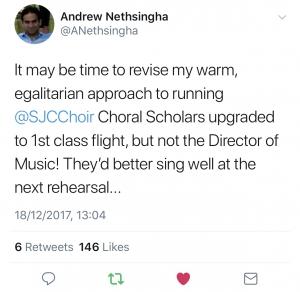 Andrew Nethsingha Tweet